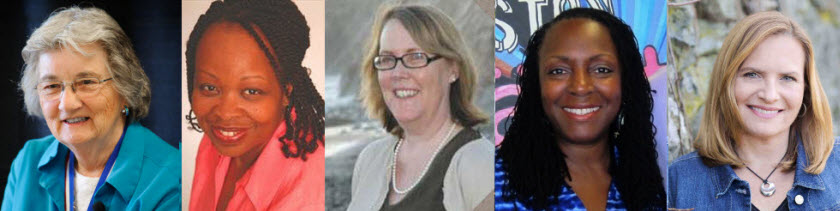 Katherine Paterson, Rita Williams-Garcia, Jeannine Atkins, Ekua Holmes, and Heather Lang will be speaking at An Unlikely Story Bookstore in Plainville, Massachusetts on May 4, 2017.