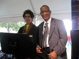Pat and Fred McKissack representing the NCBLA at the Library of Congress National Book Festival.