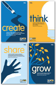 New AASL Standards stand on the pillars:  Think, Create, Share, Grow!