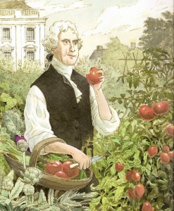 Thomas Jefferson helped our country grow an education garden, of sorts!  Illustration by S.D. Schindler,