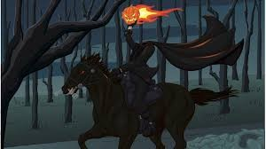 Washington Irving's Headless Horseman, as found in the pages of The Legend of Sleepy Hollow, 1820