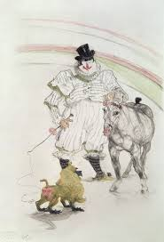 """At the Circus: Performing Horse and Monkey"" © 1899 Henri de Toulousse-Lautrec"