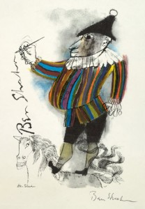 "© 1960 ""Clown"" by Ben Shahn"