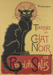 Poster advertising Le Chat Noir by artist Theophile-Alexandre Steinlen