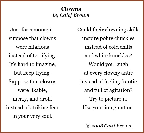 Clowns Poem by Calef Brown