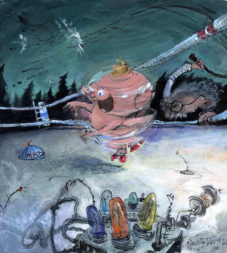 """Dig That Pig"" © 2009 Timothy Basil Ering"