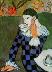 Harlequin © 1901 Pablo Picasso