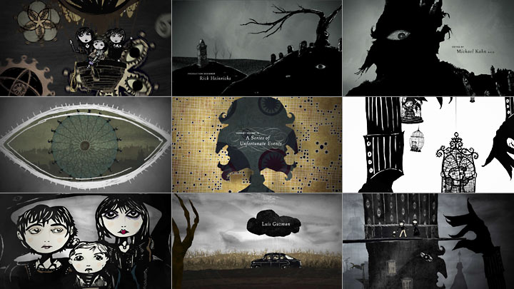 "Title Sequences and Film Credits for ""A Series of Unfortunate Events"" Created by Designer James Caliri"