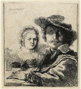 """Self-portrait with Saskia"" © 1636 Rembrandt van Rijn"