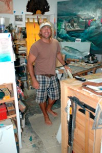 Timothy Basil Ering in His Studio.