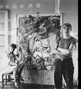 William De Kooning in His Studio.