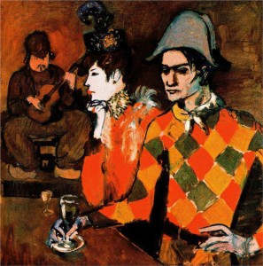 Harlequin with Glass © 1905 Pablo Picasso