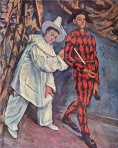 """Pierrot and Harlequin""© 1888 Paul Cezanne"