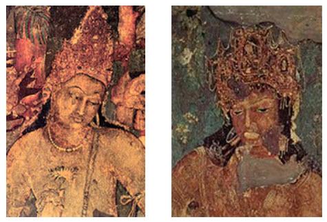 Padmapani (at left) and Vajrapani (at right)