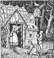"""Hansel and Gretel"" Illustration © 1889 HJ Ford"