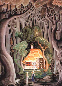 """Hansel and Gretel"" Illustration © 1925 Kay Nielson"