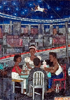 """Illustration from """"Tar Beach"""" written and illustrated by Faith Ringgold"""