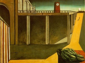 """""""The Melancholy of Departure by """"The Evil Genius of a King"""" © 1914 Giorgio de Chirico"""
