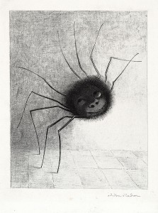 """The Spider"" © 1891 Odilon Redon"