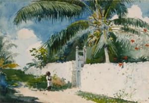 """""""A Garden in Nassau"""" Winslow Homer (1885)"""