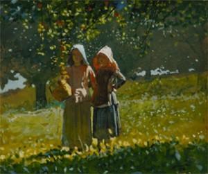"""Apple Picking"" Winslow Homer (1836)"