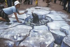 """""""Arctic Street Conditions with Soft Drink"""" © Julian Beever"""