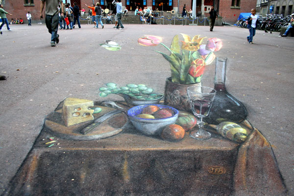 """Still Life with Butterfly"" © Julian Beever"