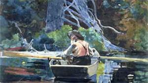 """The Adirondack Guide"" Winslow Homer (1894)"