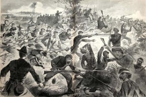 """""""The War for the Union - A Bayonet Charge"""" Winslow Homer (1862)"""