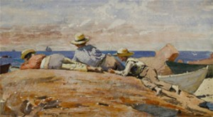 """Three Boys on a Shore"" Winslow Homer (1873)"