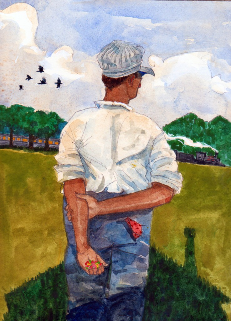 """""""Meanwhile, Near a Meadow"""" © 2011 James Ransome"""